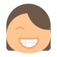 See more icon inspiration related to face, girl, smiley, emoticon, happy, emotion, feelings, smiling, people and interface on Flaticon.