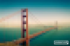 Pixelated Stufff - Golden Gate Bridge #mckay #pixelated #stufff #gate #stephen #golden #bridge