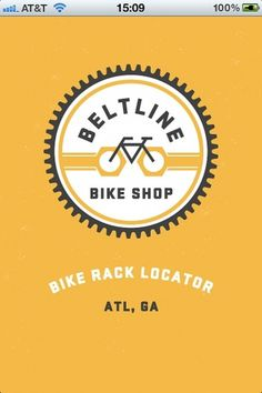 trackosaurus rex - Beltline Bike Shop Rack Locator! #logo #circle #bike