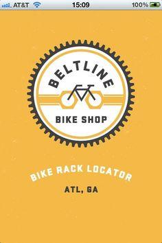 trackosaurus rex - Beltline Bike Shop Rack Locator! #logo #bike #circle