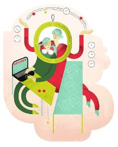 Hyvä terveys Magazine Anna Kaisa Jormanainen #illustration