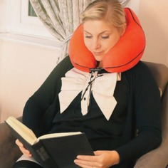 Ergonomic Neck Pillow The Ergonomic Neck Pillow is a premium pillow perfect for travel. It is made out of high-density memory foam that will never go flat, adapts to your neck, and gives all-around support and comfort. Ideal for travel, reading, and work