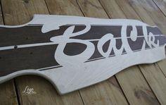 Logo model #longboard #ba #ck #wood #typography