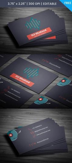 Free Djing Business Card Template