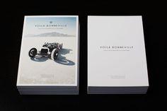 Voila Bonneville Photography book | Indiegogo #design #cars #postcard #cards #typography