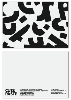 Cut&Paste by Demian Conrad | Shiro to Kuro #graphic design #white #black #bw