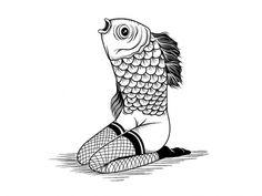 6e42a741fd5cb3ef481ccdddc564083f.jpg (JPEG Imagen, 1024x768 pixels) #xarlyrodriguez #illustration #lucreativo #vintage #mermaid