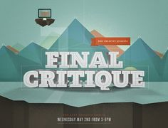 All sizes | Final Critique Promo | Flickr - Photo Sharing! #type #illustration #vintage