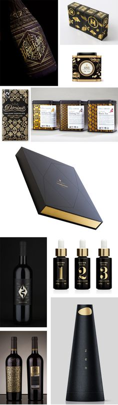 Premium Packaging #graphic design #black #gold #luxury