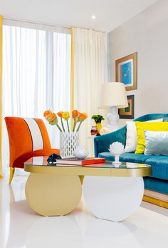 Urban Classy Home Designed by HNK in Plenty of White and Vivid Colors 3