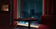 photo #city #night #window #tokyo #hotel