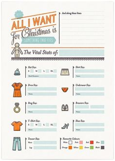 Christmas Cheat Sheets - Cookie #design #illustration #typography #christmas #icons #cookie #wish list