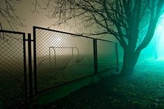 An Android's Memories on the Behance Network #fence #photography #light