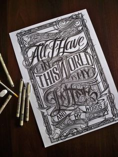 All I Have In This World by Mateusz Witczak #design #graphic #quality #typography