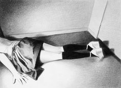 Temptation To Be Good | MERCEDES HELNWEIN #14 #10 #black #on #paper #2010 #art #5 #x #pencil #25