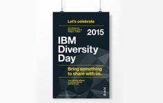 Diversity Day Poster. Typography. #IBM #diversityday