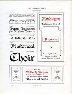 Canterbury Text type specimen #type #blackletter #specimen