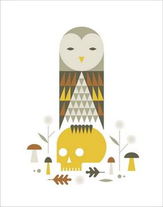 Owl by Doublenaut #illustration #owl #poster #skull