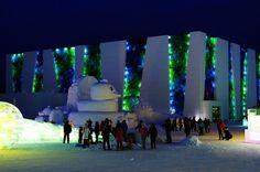 illuminated glacier village at the 2014 harbin ice festival #harbin #ice #festival