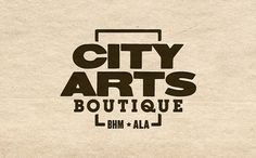 Ryan D. Harrison Design » City Arts Boutique #logo #texture #typography