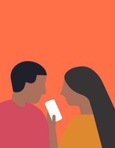 ELKER illustration_people phone