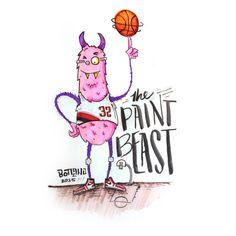 paint beast #monster # handtype #typography #sketch # illustration # doodle