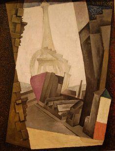 The Eiffel Tower, 1914 by Diego Rivera #rivera #diego
