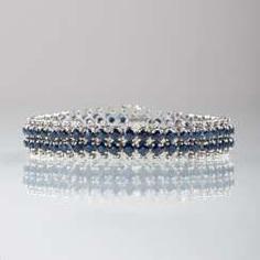 Vintage Saphir-Diamant-Armband