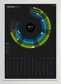 calendar #typography #poster #grid #calendar #color #circle #concentric