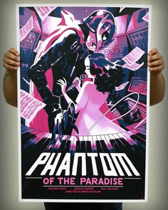 PHANTOM OF THE PARADISE, privately commissioned 7 color screen print on pearlescent paper. APs on sale 2/21.