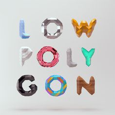 i love robots #low #poly #typography