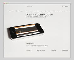 Artificial Rome #website #layout #design #web