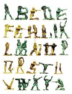 Army Alphabet By Oliver Munday #army #apohabet #typography