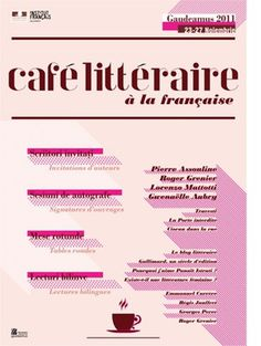 cafe litteraire #poster