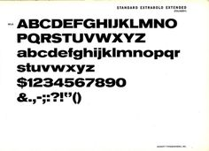 Daily Type Specimen | Standard Extrabold Extended, part of the... #typography