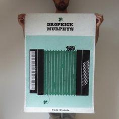 rDROPKICK MURPHYS | plakat 70x100 cm #punk #boston #dropkick #murphys #ship #poster #ryski #dawid #green