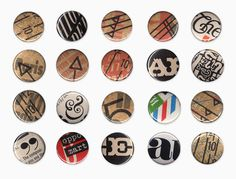 Buttons The Work of Amanda Morante #typography #vintage #collage #magazine #buttons