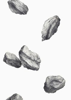 Light as a Rock by Eibatova Karina #white #drawing #black #and