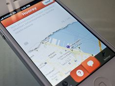 Freakin' torn paper iPhone UI by Kerem Suer #iphone #map #ui