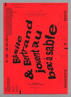 #typography #poster #red