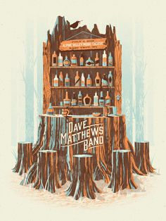 Dave Matthews Band // Alpine Valley poster by DKNG #illustration #dmb