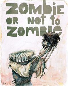 Zombie + Shakespeare Art Print #print #6 #shakespeare #zombie #society