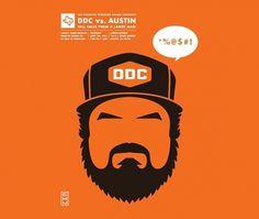 Eight Hour Day » Blog » DDC vs. Austin #aaron #austin #draplin #poster #ddc