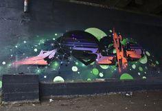 Galactic Graffiti Typography by Roid | Abduzeedo | Graphic Design Inspiration and Photoshop Tutorials #graffiti #illustration #retro