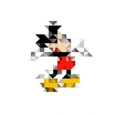 All sizes | Untitled | Flickr - Photo Sharing! #abstract #mickey #mouse #distortion #triangles