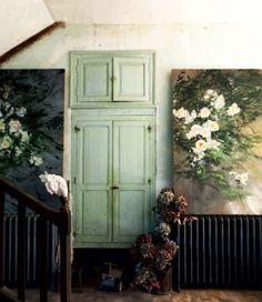 wall-flowers-green