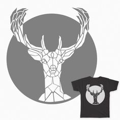 "A ""fauxpoly"" deer tee shirt. #deer #threadless #tee shirt #polygon"