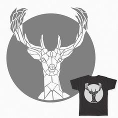 """A """"fauxpoly"""" deer tee shirt. #deer #threadless #tee shirt #polygon"""