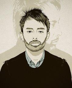 Thom Yorke | RADIOHEAD #illustration #radiohead