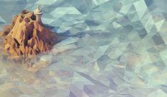 Timothy J. Reynolds | Illustrator's Lounge #painting #waterfall #geometric